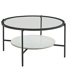 Zalany Contemporary Round Cocktail Table