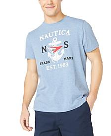 Men's Big & Tall Anchor & Flag Graphic T-Shirt