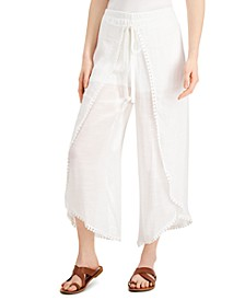 Juniors' Tie-Front Gauze Pants