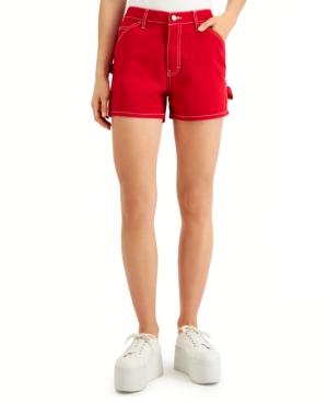 Dickies Juniors' Cotton Carpenter Shorts In Red
