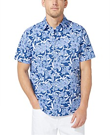 Men's Big & Tall Navtech Classic-Fit Stretch Floral-Print Shirt