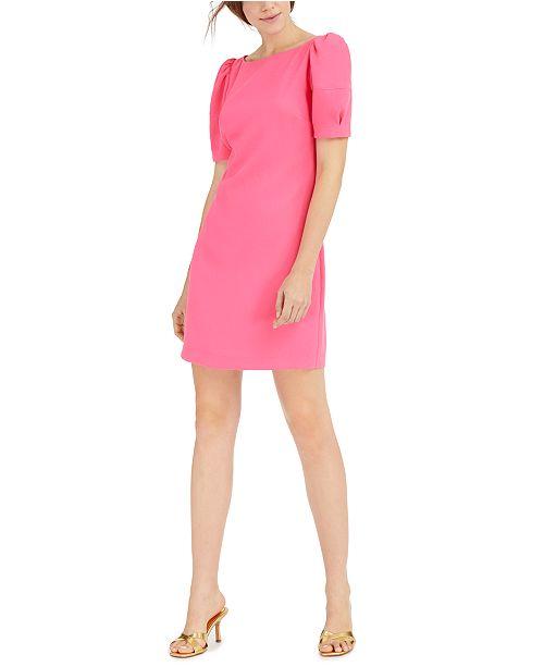 Trina Turk Bloom Puff-Shoulder Dress
