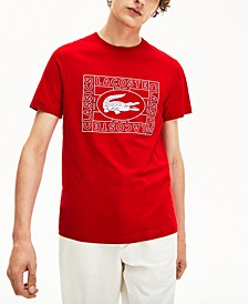 Men's Oversized Croc Stamp Logo Graphic T-Shirt