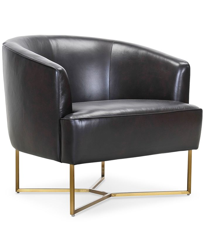 Furniture - Trentley Leather Accent Scoop Chair