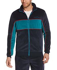 Men's Velour Colorblock Track Jacket