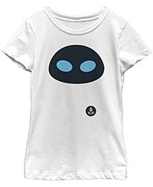 Big Girls Wall E Eve Face Short Sleeve T-shirt