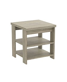 Accent Table Square - 2 Shelves