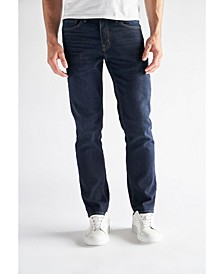 Men's Slim Straight Fit Performance Stretch Denim Jeans, Lincoln Wash