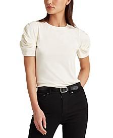 Cotton Bubble-Sleeve T-Shirt