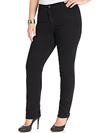 Plus & Petite Plus Size Tummy Control Straight-Leg Jeans, Created for Macy's