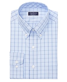 Men's Classic/Regular Fit Stretch Double Tattersall Dress Shirt, Created for Macy's