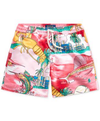 4 Ralph Lauren Polo Boys Tropical Swim Trunks