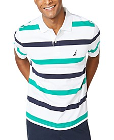Men's Classic-Fit Interlock Stripe Polo Shirt