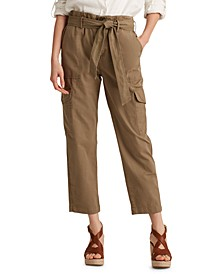 Petite Cotton Twill Cargo Pants