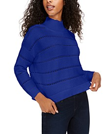 Liliya Cotton Mock-Neck Sweater