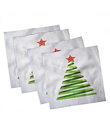 """Christmas Set of 4 Napkins, 18"""" x 18"""""""