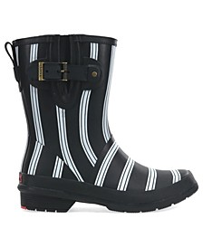 Women's Smart Stripes Mid-Calf Rain boot