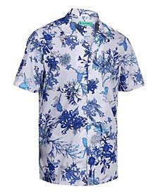 Men's Hawaiian Print Cotton Dress Shirts