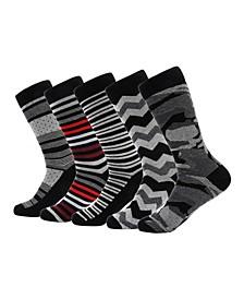 Men's Groovy Designer Dress Socks Pack of 5