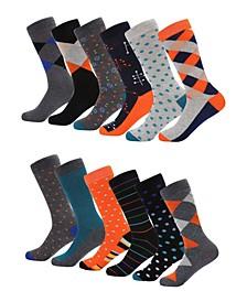 Men's Retro Collection Dress Socks Pack of 6