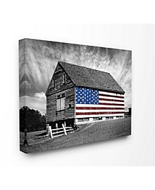 "Farmhouse Barn American Flag Canvas Wall Art 16"" L x 1.5"" W x 20"" H"