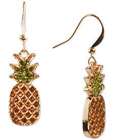 Gold-Tone Pavé Pineapple Drop Earrings, Created for Macy's