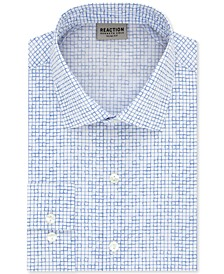 Men's Slim-Fit All Day Flex Performance Stretch Geo-Print Dress Shirt