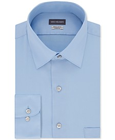 Men's Classic/Regular Fit Stretch Wrinkle Free Sateen Dress Shirt