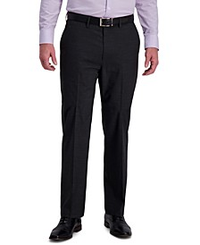 J.M. Men's Classic-Fit 4-Way Stretch Textured Grid Performance Dress Pants