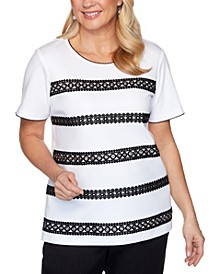 Checkmate Grommet Lace Biadere Top