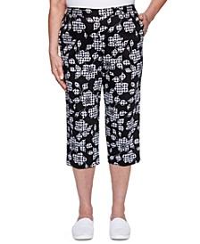 Checkmate Floral-Gingham-Pattern Pants