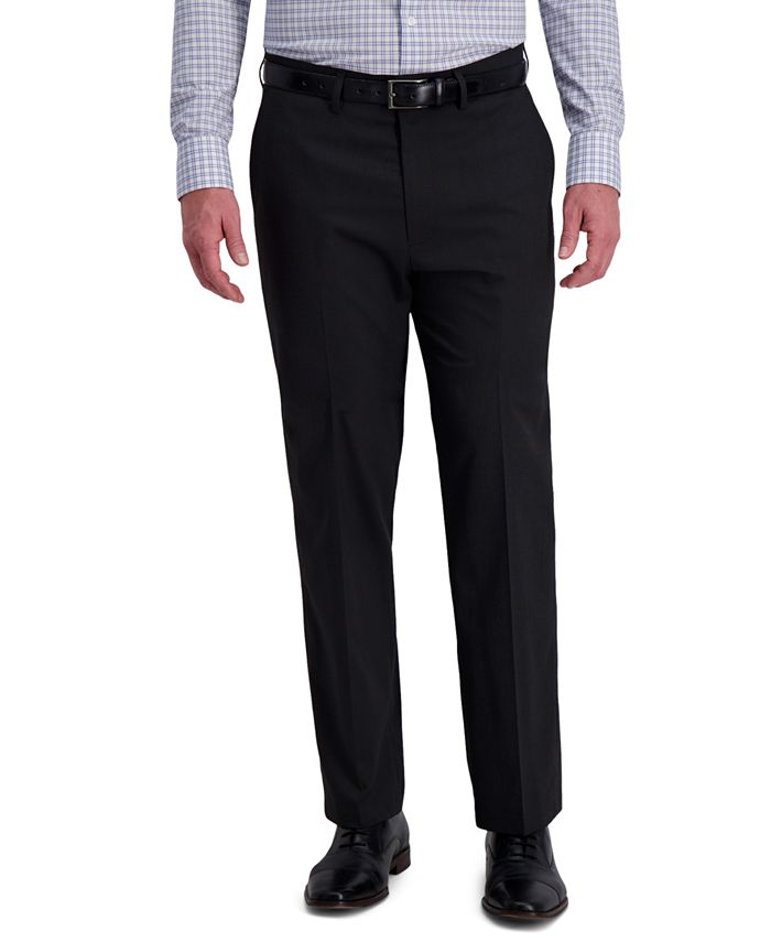 Haggar - Men's Classic-Fit 4-Way Stretch Diamond-Weave Performance Dress Pants
