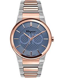 Men's Swiss Sapphire Two-Tone Stainless Steel Bracelet Watch 41mm