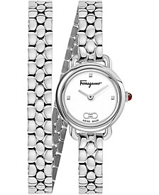Women's Swiss Varina Stainless Steel Wrap Bracelet Watch 22mm