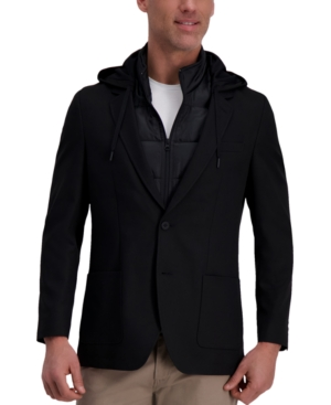 Men's The Active Series Slim-Fit Stretch Commuter Blazer with Zip-Out Puffer Jacket