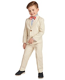 Little Boys 4-Pc. Fine Twill Suit Set