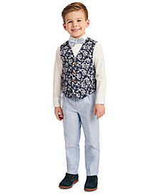 Toddler Boys 4-Pc. Tropical-Print Vest Set