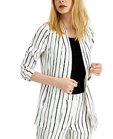 Striped Open-Front Blazer, Created for Macy's