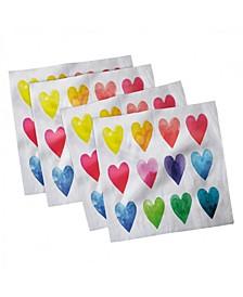 """Valentine Set of 4 Napkins, 18"""" x 18"""""""