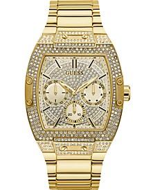 Men's Gold-Tone Stainless Steel Bracelet Watch 43x51mm