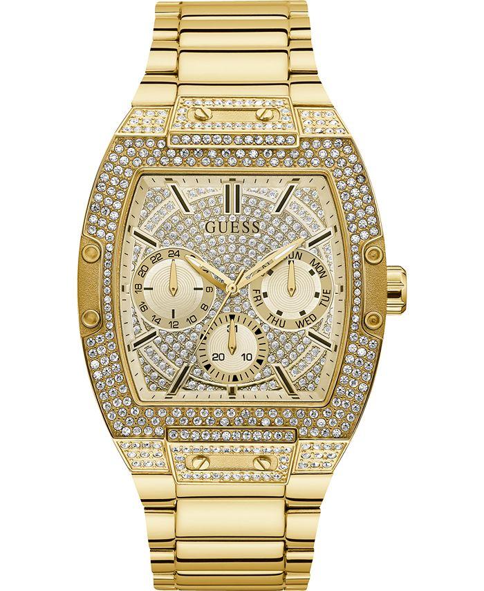 GUESS - Men's Gold-Tone Stainless Steel Bracelet Watch 43x51mm