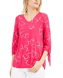 Printed Tie-Sleeve Top, Created For Macy's