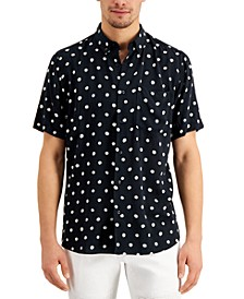 Men's Ekilio Relaxed-Fit Dot-Print Shirt