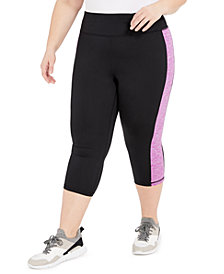 Ideology Plus Size Colorblocked Capri Leggings, Created for Macy's