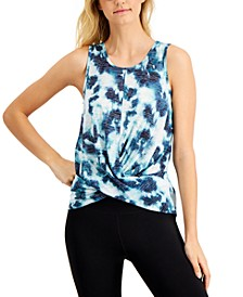 Tie-Dyed Twist-Front Tank Top, Created for Macy's