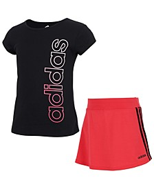 Toddler Girls Tee and Skort Set