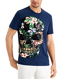 INC Men's Sequin Skull Graphic T-Shirt, Created for Macy's
