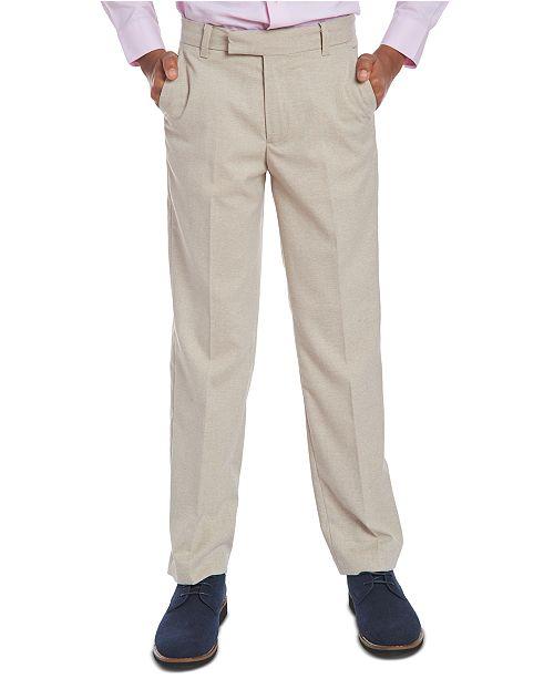 Calvin Klein Big Boys Stretch Subtle Pinstripe Heather Suit Pants