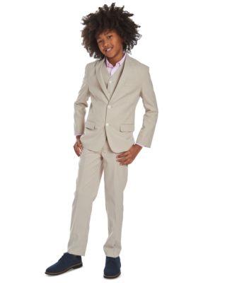 Big Boys Stretch Subtle Pinstripe Heather Suit Jacket