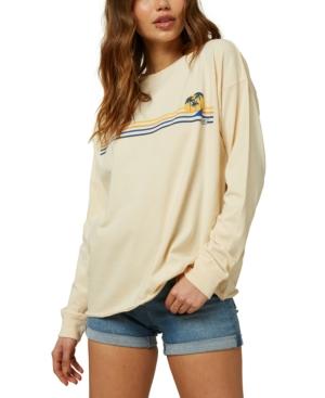 O'neill Juniors' Fine Line Cotton Graphic T-shirt In Macadamia